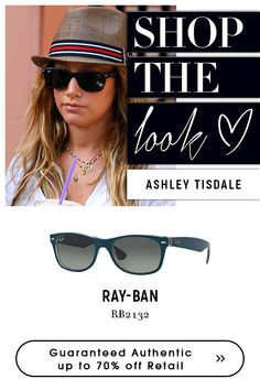 6ad8983209f  Ashley tisdale wearing  rayban Clssic  Black Sunglasses