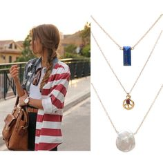 For July 4th, you can celebrate by layering up some red, white, and blue #jewelry. The fireworks shouldn't have to get all of the attention!