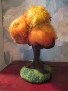Needle Felted Wool Tree - Waldorf Inspired - Autumn Fall Foliage