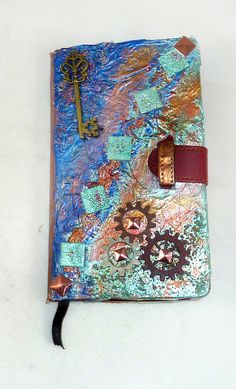 handmade travel art journal smashbook vintage by LDphotography