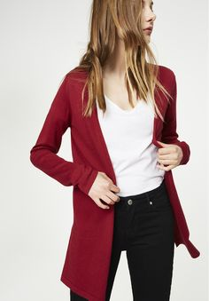 available in red - Strick Cardigan Solid, 100% Baumwolle (bio), Regular fit, GOTS - sustainable materials and fair production