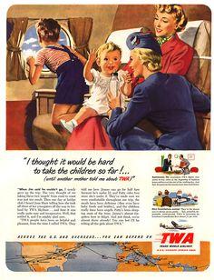Vintage Travel and Tourism Ads of the (Page Travel Ads, Travel And Tourism, Air Travel, Vintage Advertisements, Vintage Ads, 1950s Advertising, Vintage Menu, Retro Ads, Vintage Ephemera