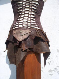 leather skirt / belt - native, pixie, boho etsy
