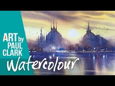 A step by step tutorial in watercolour by Paul Clark - A scene in Venice - YouTube Step By Step Watercolor, Easy Watercolor, Watercolour Tutorials, Watercolour Techniques, Watercolor Artists, Watercolor Landscape, Watercolor Paintings, Watercolours, Oil Paintings