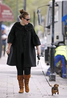 I already love Adele, but I love her even more knowing she has a wiener dog. :)