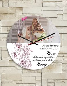 Personalised Mum MDF Clock - Don't forget Mother's Day is on the May! Huge range of personalised gifts for friends and family living in South Africa. Order via our website. LINK IN OUR BIO . Pink Happy Birthday, Happy Birthday Candles, Happy Grandparents Day, Happy Mothers, 21 Balloons, Elizabeth Arden Red Door, Personalised Gifts For Friends, Lucky To Have You, Tears Of Joy