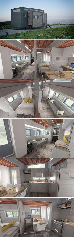Casas construída em carroceria com divisória e ótimo design
