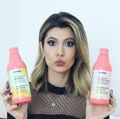 Quero contar para vocês sobre o shampoo e condicionador que uso. Eles são da @evanycbrazil e são os melhores  Ele aumenta a força do cabelo e deixa meu cabelo grosso! Não troco por nada! Amo demais! Fica a dica!