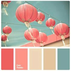 Would be a lovely color palette for a nursery! ~ A palette consisting of rather calm tones. Pink and coral match the turquoise splendidly, without creating a significant contrast, while beige and pale bro. Colour Pallette, Color Palate, Colour Schemes, Color Patterns, Color Combinations, Coral Color Palettes, Summer Colour Palette, Bright Colour Palette, Wedding Color Palettes