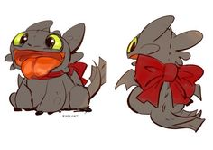 BABY TOOTHLESS IN A RED RIBBON!