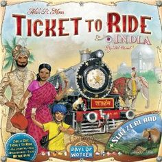 ticket to ride india- game learn the geography of india in a fun way