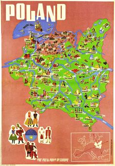 Map of Poland between 1918 (the year of the declaration of independence after 123 years of partition) and 1945 (the end of WWII) Poland Culture, Poland Map, World Youth Day, Watercolor Map, Wonderful Picture, Arte Popular, Declaration Of Independence, Wwii, Diy Gifts