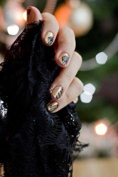 DIY Nail Art: Evening glamour #nails