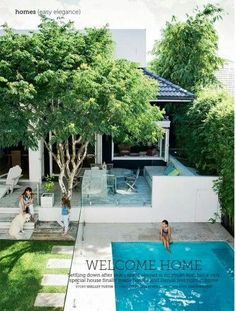 Pool like interconnected cement and decking. Not the glass. Like orientation of pool. Outdoor Swimming Pool, Pool Spa, Swimming Pools, Outdoor Areas, Outdoor Rooms, Outdoor Living, Backyard Pool Landscaping, Garden Pool, Terrace Garden