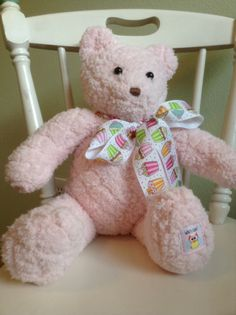 My first bear.  Given to an expectant mommy ( Ashley H).
