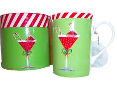 Christopher Vine Fine Bone China Mug Christmas Cocktail [cvine mug] - $25.47 : Bargains Bluegrass Fashion Plus Clothing Apparel