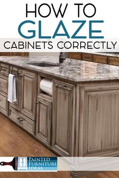 Whitewash Kitchen Cabinets, Glazing Cabinets, Distressed Kitchen Cabinets, Glazed Kitchen Cabinets, Painting Bathroom Cabinets, White Glazed Cabinets, Rustic Cabinets, Cupboards, Glazing Painted Furniture