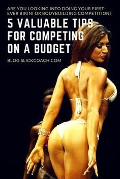 Are you thinking about doing your first-ever bikini or bodybuilding competition? You heard and read so often that it's so expensive and that you have to spend thousands of pounds/dollars to get on stage and look good? Bikini Competition Prep, Fitness Competition, Figure Competition, Competition Time, Physique Competition, Bodybuilding Competition, Bodybuilding Workouts, Bodybuilding Motivation, Bodybuilding Women