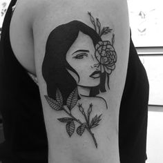 From the old school traditional black ink background, Lydia Marier has evolved and moved to an illustrative, mysterious and surrealistic skin art. Mini Tattoos, Body Art Tattoos, New Tattoos, Sleeve Tattoos, Cool Tattoos, Portrait Tattoos, Tatoos, Portrait Tattoo Sleeve, Watch Tattoos