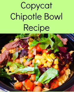 Chipotle Bowl Recipe