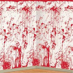 Halloween Bloody Wall Hanging Backdrop Party Supply Home Decor Decoration NEW