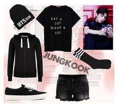 """Jungkook ideal type"" by shinee-panda ❤ liked on Polyvore featuring VILA, LØMO and Vans"