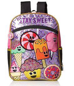Emojination Girls' Stay Sweet 16 Inch Backpack NEW school bag #Emoji #Backpack