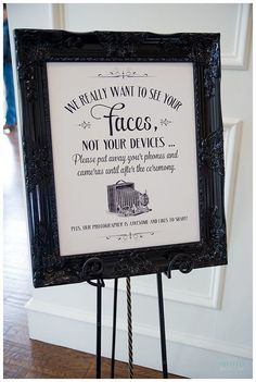 Unplugged Wedding Sign | Using Social Media at your wedding | Treasury on the Plaza Blog