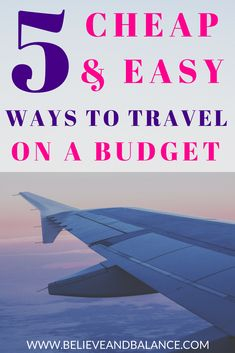 5 Cheap & Easy Ways to Travel on a Budget — Believe and Balance #travel #travelguide #travelphoto #travelidea #travelstyle traveltips #traveldeals Ways To Travel, Best Places To Travel, Travel Tips, Travel Destinations, Travel Hacks, Travel Ideas, Travel Money, Solo Travel, Budget Travel