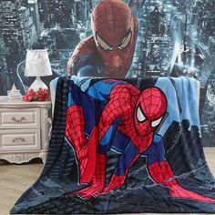 >> Click to Buy << Cartoon Little Yellow Man Spider Man Mickey Mouse Flannel Blanket Student Child Multi-functional Blanket Bed Sheet Air Condition #Affiliate