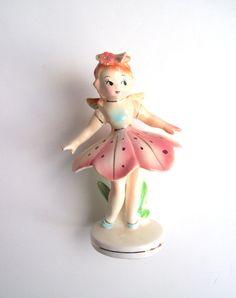 Flower Fairy porcelain Figurine