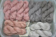 Dye Material: Willow Bark Mordant: None, Alum, & Iron Yarn: Navajo-Churro Wool http://www.spindancechurros.com/Upload-Images/Yarns/WillowBark.jpg