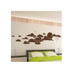"Style and Apply Sky Wall Decal Size: 30"" H x 99"" W, Color: Dark Green"