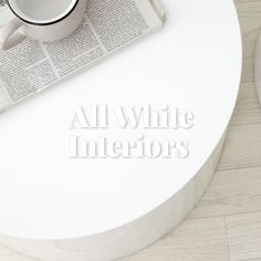 All White everything. Bring a clean, crisp and modern feel to your home with these all white styling tips. Minimal Home, White Interiors, All White, Styling Tips, Crisp, Minimalist, Luxury, Modern, Inspiration