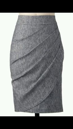 Asymmetrical is the new black, and this demure skirt will help get you the on-trend look. Pleated at the side for the perfect silhouette, this high-waisted pencil-cut piece can be worn with frilly blouses or vintage tees for everything from casual study d Mode Style, Style Me, Stitch Fix Stylist, Dress For Success, Work Wardrobe, Vintage Skirt, Vintage Tees, Retro Vintage, Work Attire