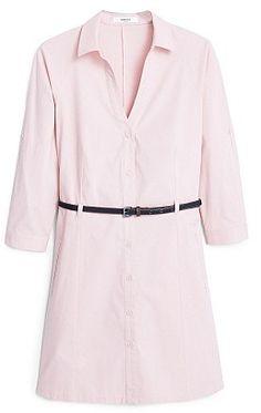 Womens ice pink shirt dress from Mango - £29.99 at ClothingByColour.com