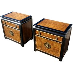 Hollywood Regency Chin Hua Nightstands By Century Furniture