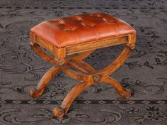 ST91: Empire Stool in Leather (1)