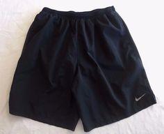 "XL Mens 9"" Nike DriFit Challenger Running Shorts Black Built In Briefs Extra LG #Nike #Shorts"