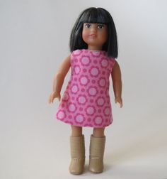 American Girl Mini Doll 6 1/2 Inch Doll Pink by HelloJadeStudio, $8.00