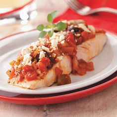 Mediterranean Mahi Mahi Recipe from Taste of Home -- shared by Virginia Anthony of Jacksonville, Florida