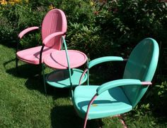 More Vintage Metal Chairs & Table