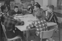 Donald Maley at Wood Middle School, 1950