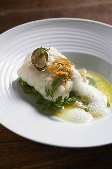 Monkfish with Broad Beans. Such a yummy meaty fish.