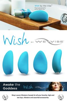 The We-Vibe Wish is an extremely powerful clitoral vibrator. With a soft, supple exterior and hard rumbling interior you'll love this waterproof sex toy. Featuring the new PowerPulse Vibration the We-Vibe Wish offers a cluster of vibration pulses. Luxury Vibrators Canada offer the We-Vibe Wish with fast, free shipping.