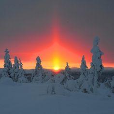 The Polar Night captured in Saariselka by @exploreinari Finland
