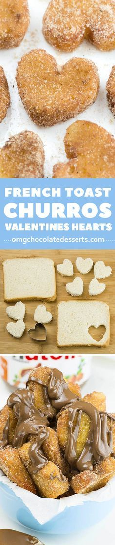 French Toast Churro Bites in heart shapes is cute idea if you need quick and EASY BREAKFAST Recipe. It's simple to make for yours kids before they go to school in the mornings, or if you want to serve romantic breakfast in bed for him on Valentine's Day.