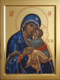 Religious Pictures, Religious Icons, Religious Art, Manado, Our Lady Of Sorrows, Christian Artwork, Queen Of Heaven, Mary And Jesus, Byzantine Icons
