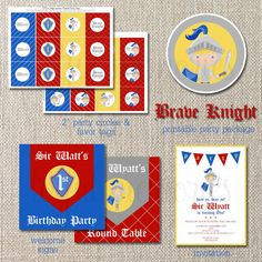 Printable Knight Party Package