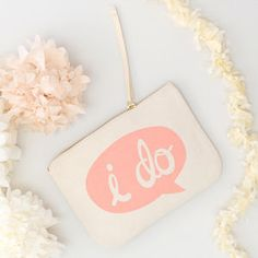 'I Do' Canvas Pouch - bags & purses